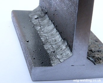 Section of fillet weld