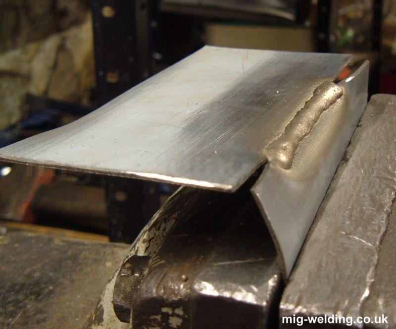 Braze Aluminium Panel : Mig brazing
