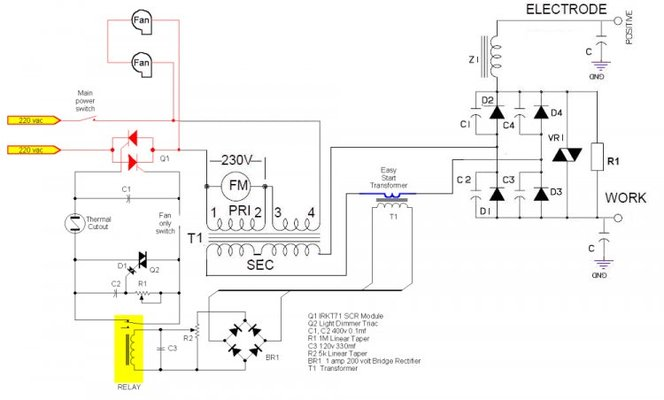 3 Phase Motor Starter Diagram as well Star Delta Connection Diagram as well Forum posts besides Arc Welder Output Current Control And Dc Rectifier Upgrade further Chopper Wire Diagram For Turn Signals. on contactor wiring diagram
