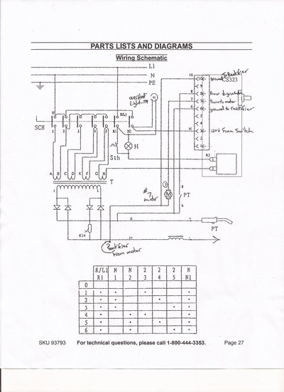 chicago electric motor wiring diagram chicago electric mig welder mig welding forum  chicago electric mig welder mig