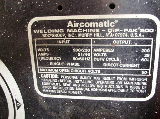 airco dip pak 200 mig welding forum rh mig welding co uk Airco Dip Pak 200 Manual Airco Dip Pak 200 Manual