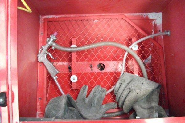 small clarke blast cabinet improvement | MIG Welding Forum