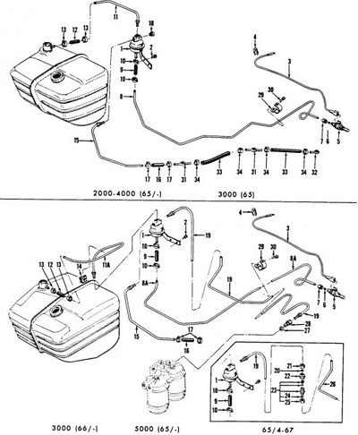 Ford 4000 Fuel System