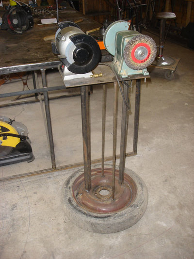 bench grinder stand with wheels. grinder stand.jpg bench stand with wheels