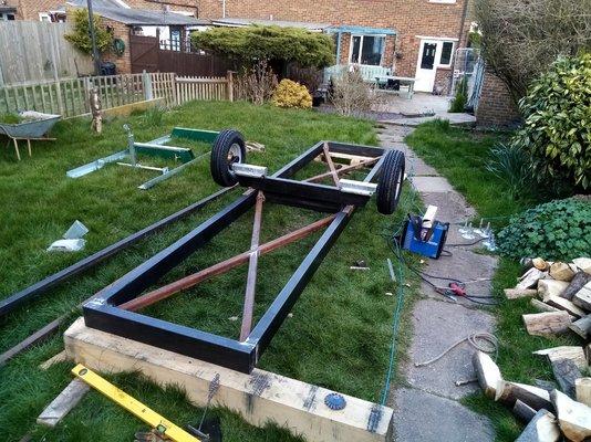 Sawmill trailer build | MIG Welding Forum