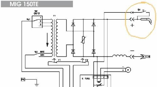 23998 51e4e937ab5dd8841902a906578b9ab6 wire feed is not working mig welding forum Welder Circuit Diagram at bakdesigns.co