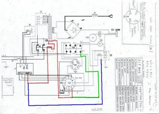 arc welder wiring diagram color sip ideal 150 problem | mig welding forum lincoln 225 arc welder wiring #6
