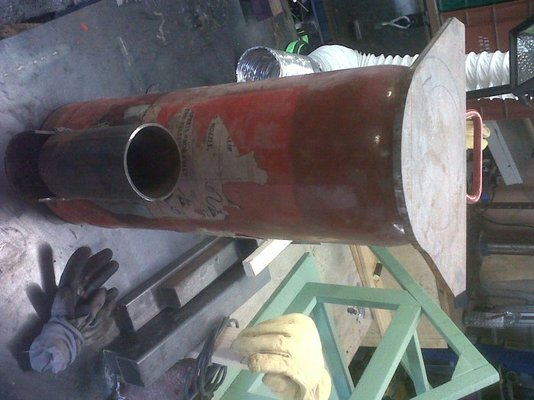 My Rocket Stove Attempt Mig Welding Forum