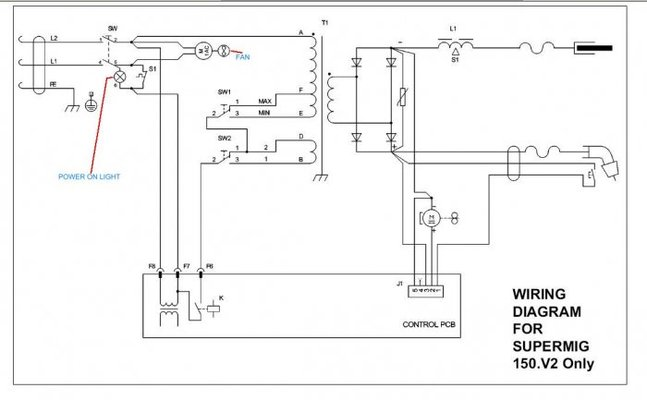 32484 e625eff522d566210ed0706a7f0fdb41 sealey supermig 150 not feeding or welding mig welding forum Welder Circuit Diagram at gsmx.co