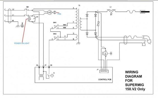 sealey supermig 150 not feeding or welding mig welding forum Snap-on YA205 Mig Welder Wiring Diagram