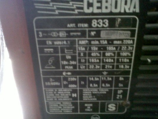 Cebora Welder 883 Manual