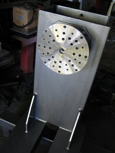 22. Machined to 10mm thick and drilled stainless face plate IMG_0661