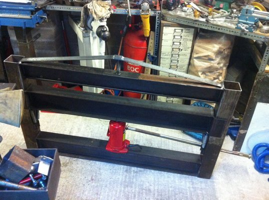 Homemade 4' 3mm Hydraulic Metal Bender 'work in progress