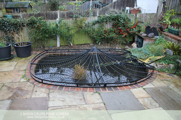 Metal spider web mig welding forum for Decorative fish pond covers