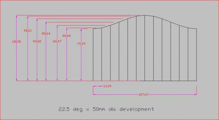 graphic about Printable Pipe Saddle Templates referred to as slicing angles upon pipe/tube MIG Welding Discussion board