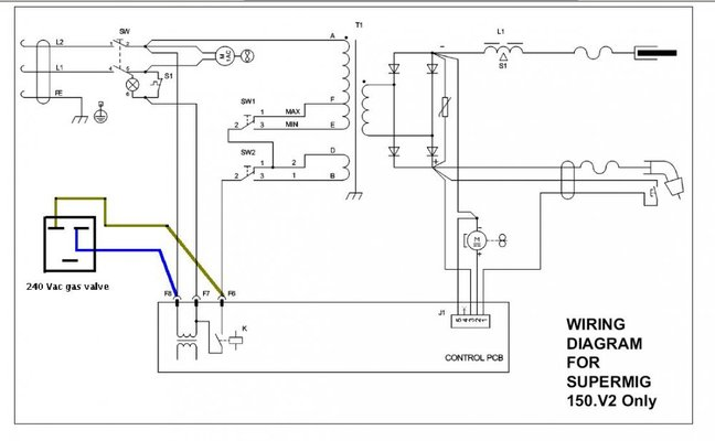 solenoid valve wiring polarity solenoid image sealey 150 supermig mig welding forum on solenoid valve wiring polarity