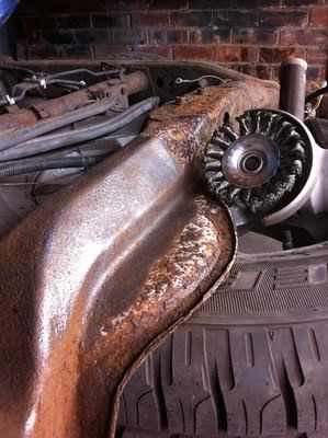 Nissan navara rear chassis repair   MIG Welding Forum