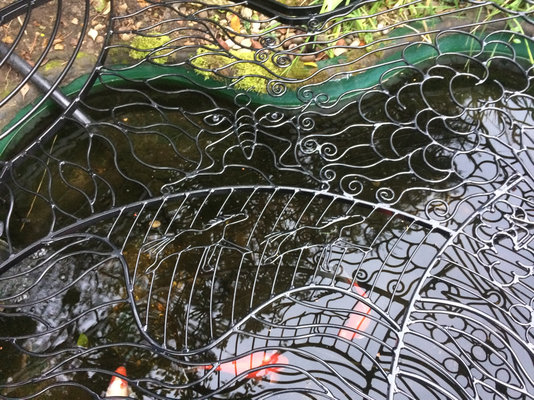 Decorative pond covers mig welding forum for Decorative fish pond covers