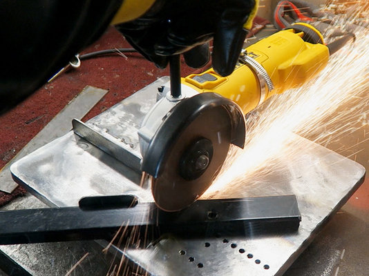 how to cut 45 degree angles with angle grinder