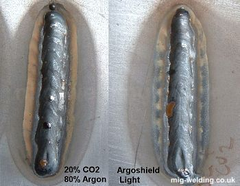 Argon mix vs argoshield shielding gas