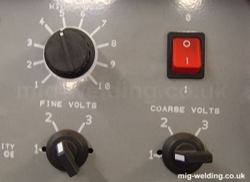 Welder power controls