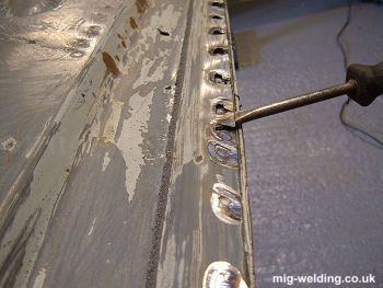 Removing spot welds