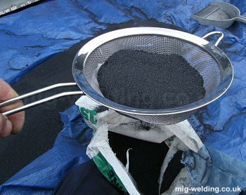 Sieving grit
