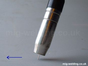 Orientation of the welding torch