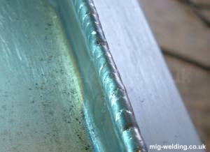 Welding an edge