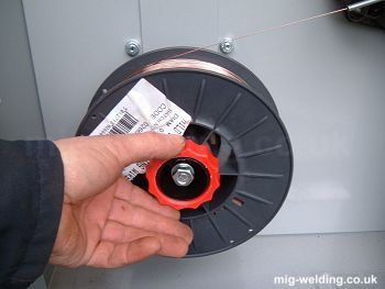 Installing mig wire and setting wire feed tension for Lincoln welder wire feed motor